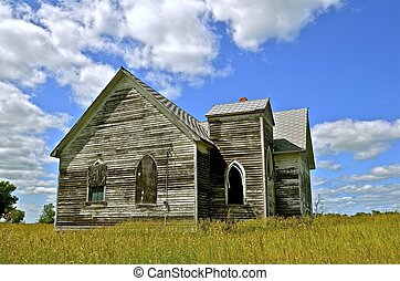 Dilapidated country church - An old abandoned country church...