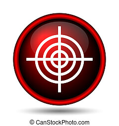 Target icon Internet button on white background