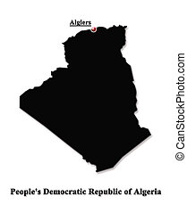 Map of Algeria in English - map of People's Democratic...