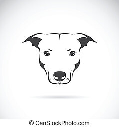 Vector image of a dog head