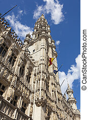 Maison du Roi building, Grand Place. Brussels, Belgium. -...