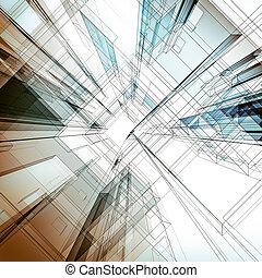 Abstract architecture background Architecture design and 3d...