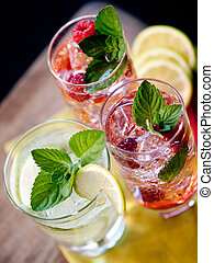 Summer cocktails - Three refreshing cocktails with...