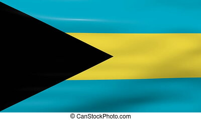 Waving Bahamas Flag, ready for seamless loop