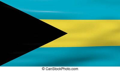 Waving Bahamas Flag, ready for seamless loop.
