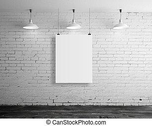 frame in brick loft