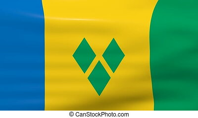 Saint Vincent and The Grenadines - Waving Saint Vincent and...