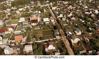 Flying over the village in summer - Flying over the village...