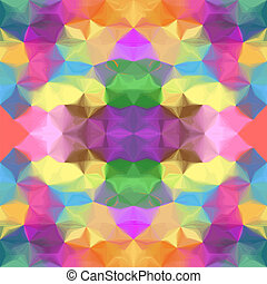 Kaleidoscopic seamless pattern - Grunge stained colorful...