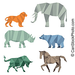 Cubist wildlife