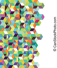 Abstract background with color dice