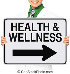 Health and Wellness - A medical person holding a modified...
