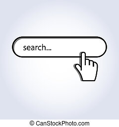 Hand cursor mouse on search