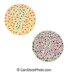color blindness - Ishihara Test. daltonism,color blindness...