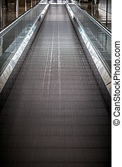 moving walkway in the airport