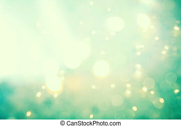 Abstract teal light background - Teal colored abstract shiny...