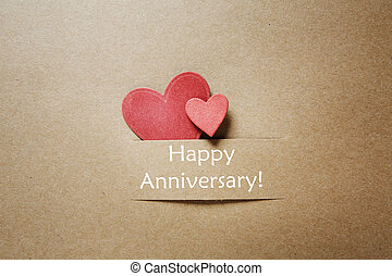 Happy Anniversary message with small hearts - Happy...