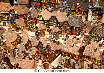Alsatian houses - Traditional alsatian houses on the...