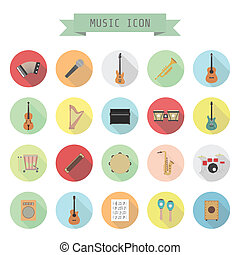 music icon - set of music icon, rock, acoustic, classical...