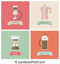classic methods - unplug coffee methods, syphon, moka pot,...