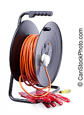 Electric extension reel. - Electric extension reel,red...
