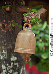 buddhist bell - small buddhist bell hanging to worship