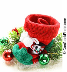 Christmas knitted socks for gifts traditional festive...