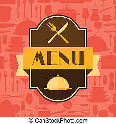 Restaurant menu background in flat design style