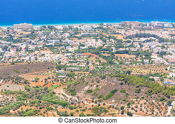 landscape of Rhodes Island, Greece