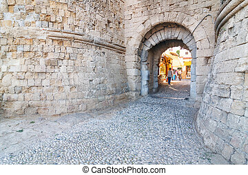 entrance to the Knights Grand Master Palace, Rhodes, Greece