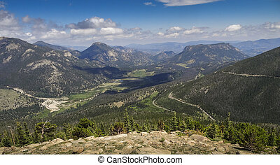 Rocky Mountain National Park - Rainbow Curve at Rocky...