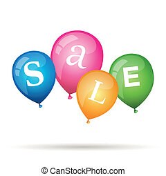 Vector Sale Design with Balloons