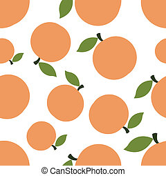 Pattern Silhouette Peaches - seamless texture of colored...