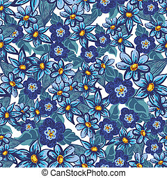 Handdrawn floral seamless pattern - Hand drawn floral...