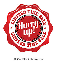 Red promotional sticker, icon,stamp or label for limited...