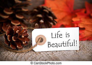 Fall Tag with Life is Beautiful - A Fall Label with the...