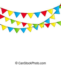 Party Flag Background Vector Illustration. EPS 10.