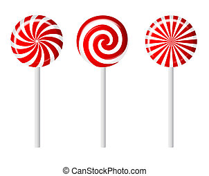 Striped candy vector illustration - Tasty Striped candy...