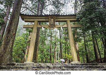 Kumano Sacred Trail - Kumano Kodo sacred trail in Wakayama,...