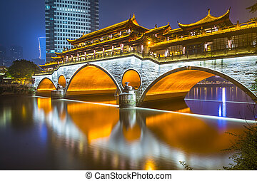 Chengdu Bridge - Chengdu, Sichuan, China at Anshun Bridge.