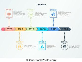 Retro timeline infographic