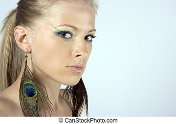 Beautiful young model - Close-up beautiful young blond model...