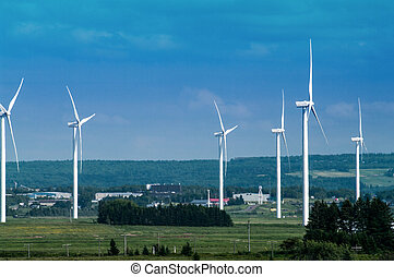 Windmills (6) - Windmills on the isthmus between New...