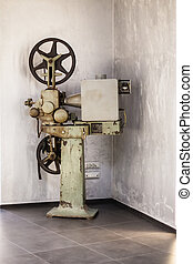 Old Projector - an old big cinema projector in the hallway...