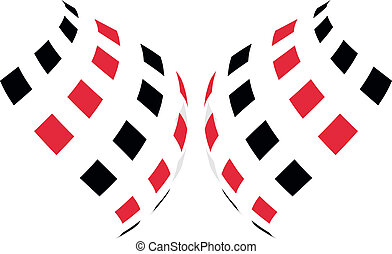 Race Flags - Illustration of a a race flags on white...