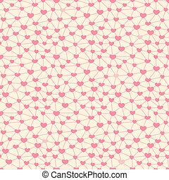 Seamless pattern with hearts linked together