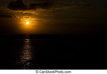 Early morning on Bali - Early morning sun on Bali in...