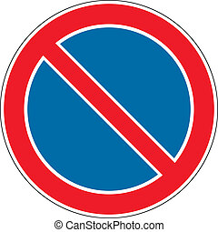 No parking vector sign