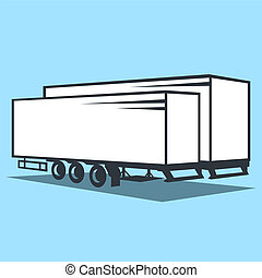 Cargo Trailer sign - Branding identity corporate logo...
