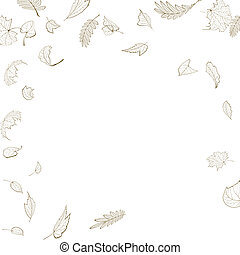 Fall leaf skeletons autumn design template EPS10